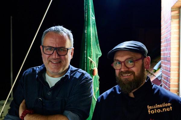 20.8.2020 Tom Heinzle & Heiko Brath 7 Gang Menü mit Weinbegleitung im Hotel Der blaue Reiter in Durl